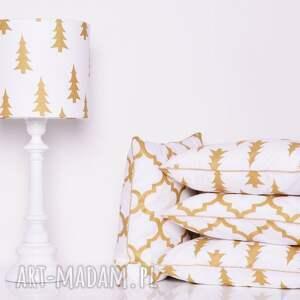 poduszka gold trees 50x50cm - z-wypustką, złota-poduszka, choinka, trees