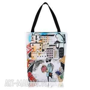 torebka shopperka 1309 lublin - shopping, duża, pojemna, zakupy, praktyczna