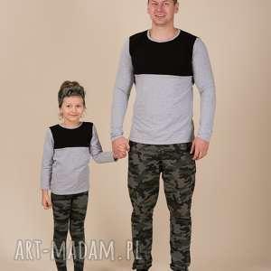 komplet bluzek dla taty i córki/syna, dlatatyicórki, dlatatyisyna, komplet, dwakolor