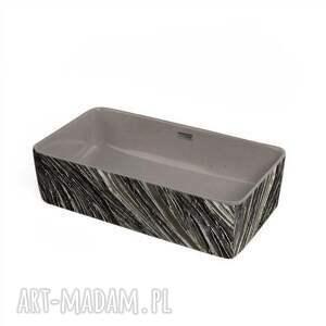 dom hermosa - betonowa umywalka nablatowa ze strukturalnym zdobieniem