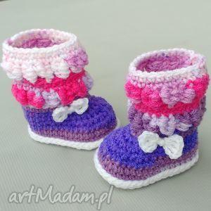 kozaczki banff, buciki, wełniane, niemowlę, prezent, ciepłe, dziewczynka