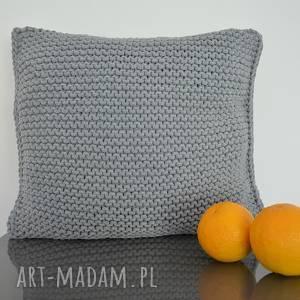 poduszki szare dla pani anny - 2 szt, poduszka, sznurekbawełniany