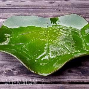 Patera LIŚĆ, liść, patera, talerz, ceramiczna, plate, leaf