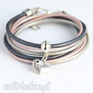 bransoletki dla siostry - pomysł na prezent silver pink, sister, siostra, siostry