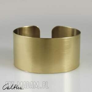 satyna - mosiężna bransoletka 140319-03, bransoletka, bransoleta, szeroka