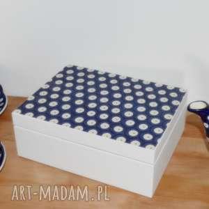 ręcznie robione pudełka pudełko na herbatę herbaciarka bolesławiecka bolesławiec prezent