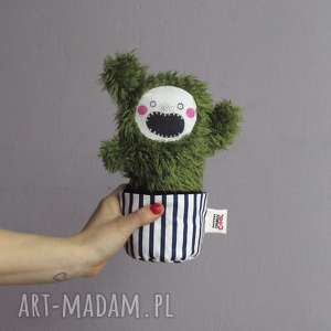 demoniczny kaktusik damian - na zamówienie, kaktus, sukulent, doniczka, maskotka