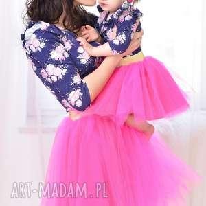 sukienki komplet rosa dla mamy i córki, mamaicórka, komplet, tiulowespódniczki, neon