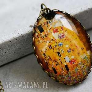 Naszyjnik Pocałunek Klimt, klimt, sztuka, obraz, pocałunek, zawieszka, owalna