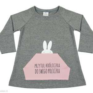 tunika dla dziewczynki a kuku - tunika, dziewczynka, królik, sukienka, ubranka