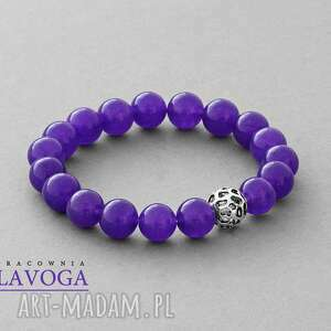 ręczne wykonanie bransoletki jade with pendant in violet