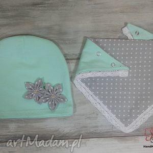 autorskie czapki czapka z trójkątem (kominem, apaszką)
