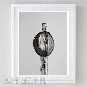 abstrakcja - akwarela formatu a4, akwarela, abstrakcja, tusz, postać, papier