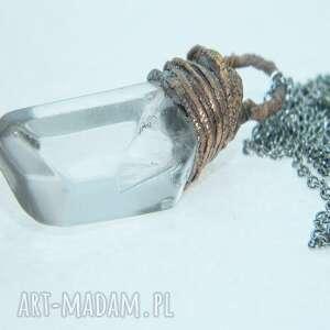 Surowy kryształ górski wisiorki esterka wisior, sopel kryształu