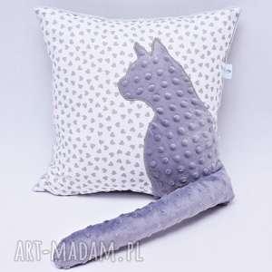 Poduszka kot z ogonem 3D serduszka, poduszka, kot, poduszka-z-kotem