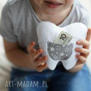 poduszka dziecięca ząbek mały, wróżka zębuszka, podusza ząbek, zabek zębuszka