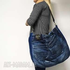 na ramię duża torba upcykling jeans 14 replay, jeans, upcykling, jeansowa