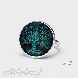 Pierścionek KONARY, talizman, symbol, drzewo, życie, grafika, korzenie