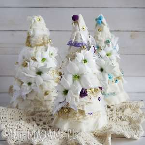 handmade pomysł na prezent na święta choinka z fioletowym akcentem