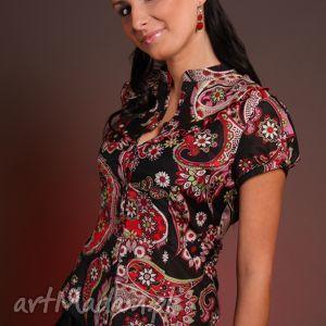 Jedwabna bluzeczka z karczkiem bluzki efimero bawełna, jedwab