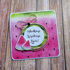 soczysta i apetyczna, życzenia ślubne, słodka, owoce, arbuz, owocowa, zabawna
