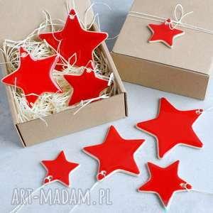 zestaw gwiazdek, gwiazdki, zawieszki, ozdoby choinkowe, świąteczne