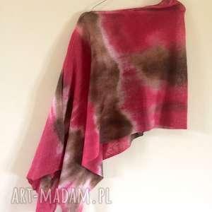 unikatowe lniane ponczo, bluzka, sweter, narzutka, prezent, len, święta
