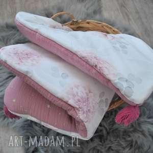 komplet pościeli dalie z muślinem, łóżeczko, pościel, muślin, bawełna