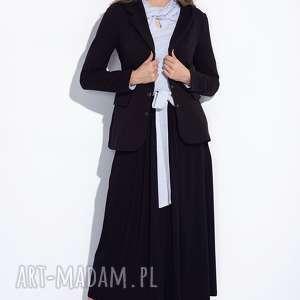 Bien Fashion Długa spódnica bawełniana z kokardą przodu, długa, maxi, rozkloszowana