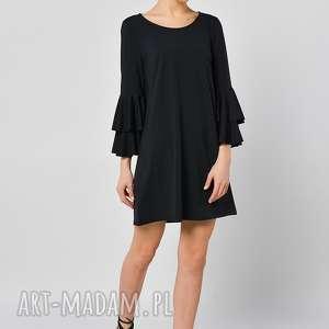 MALWA CZARNA - SUKIENKA, jersey, sukienka, czarna