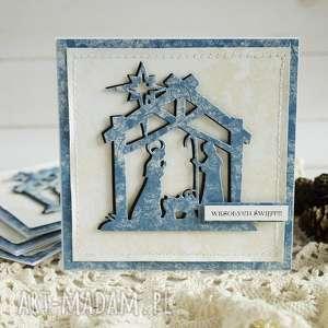 kartka ze stajenką - boże-narodzenie, kartka-świąteczna, scrapbooking