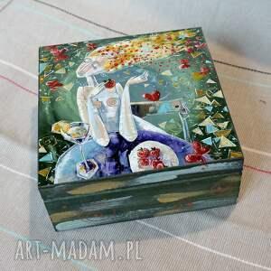 szkatułka myśli kobiety, anioł, obraz, szkatułka, 4mara, prezent, dla mamy