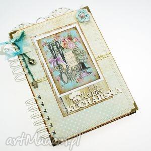 scrapbooking notesy przepiśnik- kuchnia w różach, przepiśnik, książka, kucharska