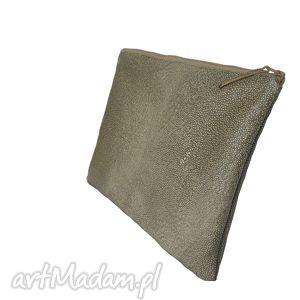 Wężowa skórzana kopertówka artmanual torebka, kopertówka