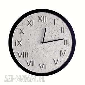 zegary zegar betonowy handmade z betonu biały złoty czarny 45cm vintage styl