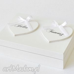 Pudełko na obrączki Romantyczne, pudełkonaobrączki, wesele, pudełkoozdobne, kuferek