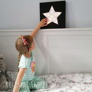 Prezent ŚWIECĄCY OBRAZ GWIAZDA prezent lampka dekoracja, obraz, gwiazda, świecąca