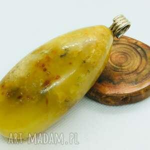 ręczne wykonanie wisiorki bursztynowy wisior ze srebrną zawieszką bursztyn bałtycki
