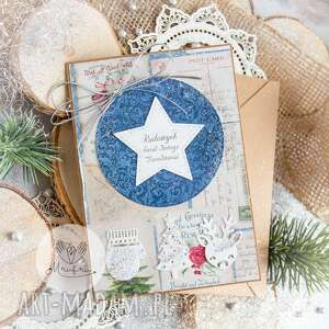 hand-made pomysły na upominki świąteczne piękna kartka święta bożego narodzenia
