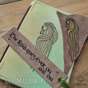 ręcznie wykonane notesy zestaw tolkien: rohan - zeszyt a5, zakładka do książki