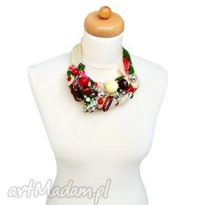 gooral naszyjnik handmade - naszyjnik, handmade, góralski, kolorowy, ludowy, folk