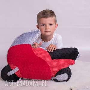 ręcznie robione maskotki poduszka dziecięca motocykl