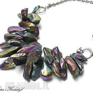 titanium - naszyjnik - srebro, kwarc, tytan
