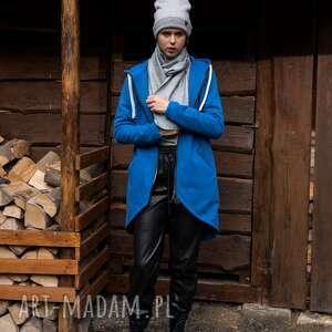 Bluza -płaszcz longline chabrowa płaszcze trzyforu bluzy, czapka