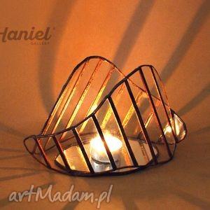 handmade świeczniki lampion witrażowy sybmiosis skandynawski