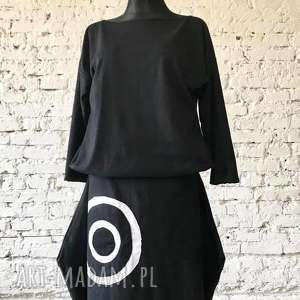 black sea-sukienka na jesień, boho sukienka, orginalna zbluzowana, folk