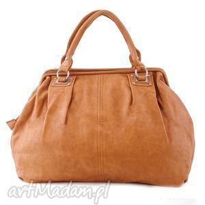 do ręki torba damska, kuferek paris 10-09 light brown, kuferek, codzienny, dopracy