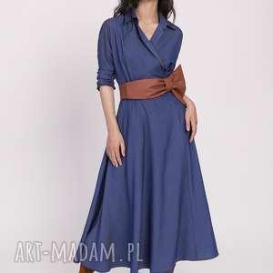 długa sukienka, suk173 jeans, długa, maxi, kimono, kieszenie