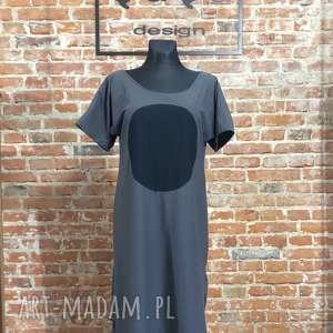 black moon, minimalistyczna, sukienka folk, bawełniana sukienka, asymetryczna