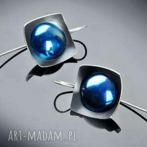 srebrne kolczyki z tytanem, geometryczne eleganckie